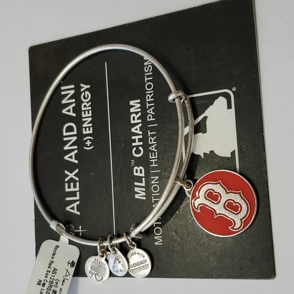 Alex and Ani MLB Boston Red Sox Red Enamel Silvertone Bracelet